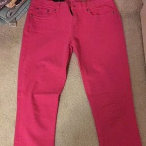 J crew jeans hot pink